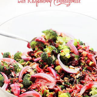 Crunchy Broccoli Salad with Raspberry Vinaigrette