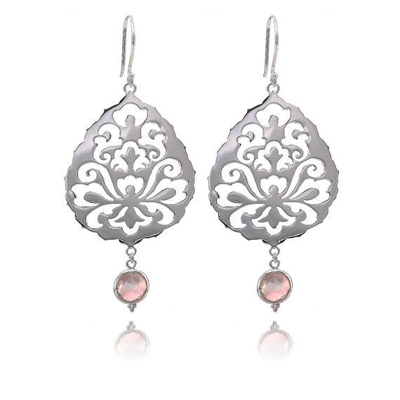 Ananda soul, Souldance örhängen i silver och rosenkvarts