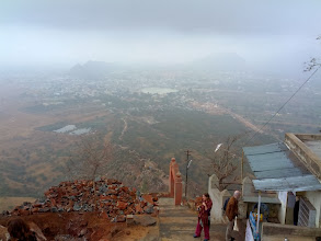 Photo: The reward of our sunrise hike in Pushkar