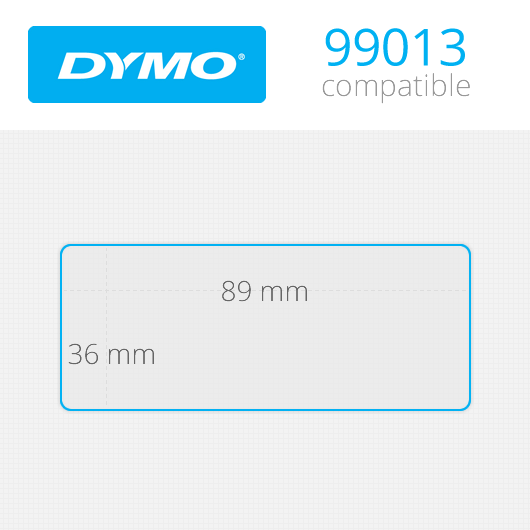 Dymo Labels 36x89mm Κωδ: 99013 Ρολό 400 ετικέτες