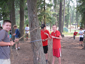 Photo: Eagle Quest class - knot tying