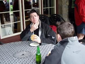 Photo: here Matt Edmonds contemplates world peace while Dave Ball looks on