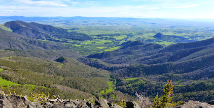Photo: Little Belt Creek drainage from the summit of Highwood Baldy