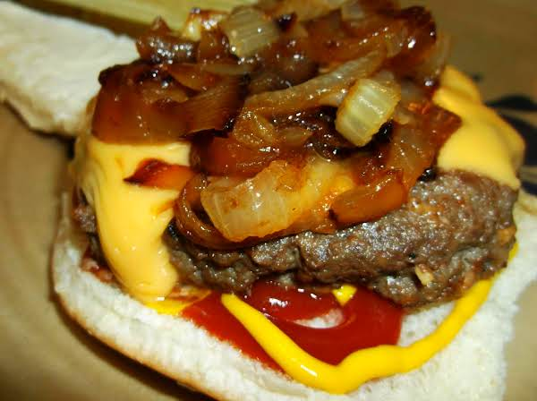 Juicy Burgers With Caramelized Onions Recipe