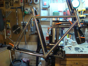 Photo: All the tubes are mitered, it's starting to look like a bike.