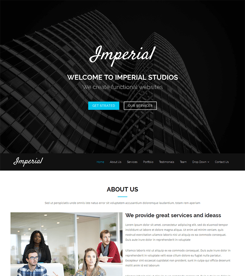 Imperial – Free Onepage Bootstrap Theme | BootstrapMade
