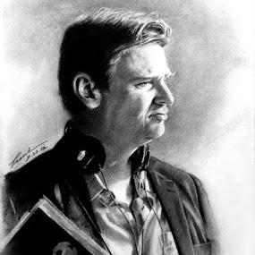 Christopher Nolan by Franky Go - Drawing All Drawing ( dc, fan art, gotham, hero, comic, inception, hollywood, chris nolan, director, nolan, the dark knight, dc comic, batman, memento, dark knight rises, writer, christopher nolan, superhero )
