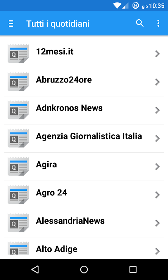 Quotidiani Online- screenshot