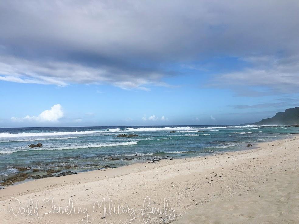 Sirena beach sea glass guam