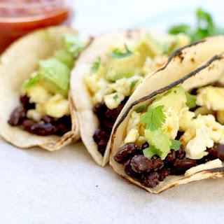 Easy Black Bean Breakfast Tacos Recipe