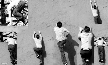 Photo: spektakuläre, urbane Sportart, Le Parkour oder Street Climbing