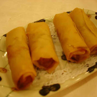 Braised Beef and Herbs Spring Rolls.