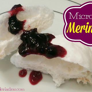 2-Ingredient 3-Minute Microwave Meringues!