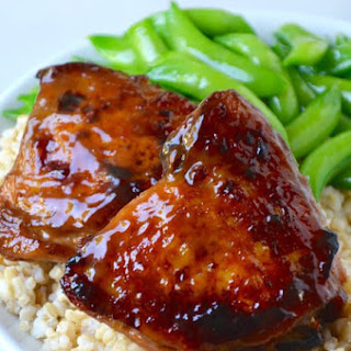 Honey Balsamic Baked Chicken Thighs.