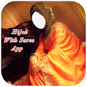 Hijab With Saree Photo Montage New icon