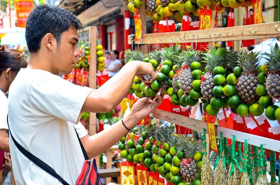 Lucky Fruits for Sale by Yuri Saito - City,  Street & Park  Markets & Shops ( pwcmarkets )
