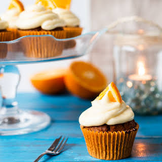 Carrot and Orange Cupcakes.