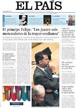"""Photo: El príncipe Felipe: """"Los jueces sois merecedores de la mayor confianza"""", el magistrado prepara aplazar la citación de doña Cristina, todos los colegios médicos se unen contra los recortes del sistema de salud, ERC amenaza con vetar los Presupuestos de Artur Mas y Feijóo también viajó a Ibiza y Cascais con el narco Dorado, en nuestra portada de EL PAÍS del viernes 5 de abril de 2013. http://srv00.epimg.net/pdf/elpais/1aPagina/2013/04/ep-20130405.pdf"""