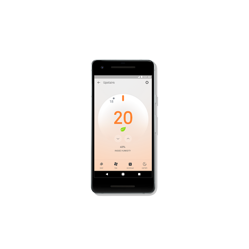 Nest app Thermostat feature on smartphone