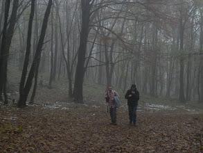 Photo: Ľubko Tancer a náš nový turista Lukáš. Objavujú sa prvé stopy snehu, ale ešte je stále pomerne teplo.