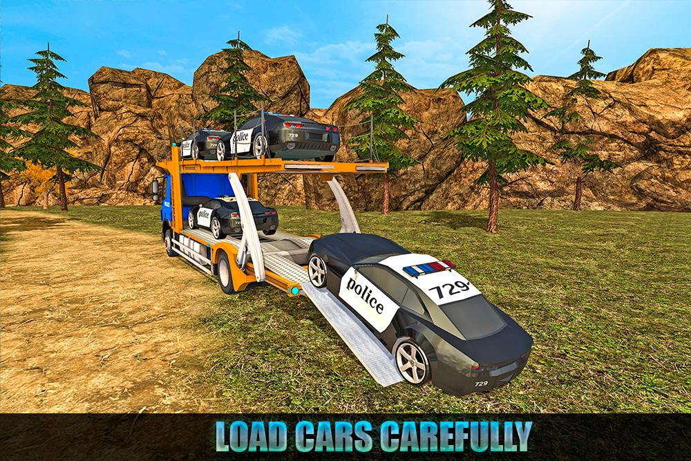 Offroad Police Transport Truck Sim- screenshot