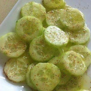 Cool Cucumbers with Chili Powder Recipe