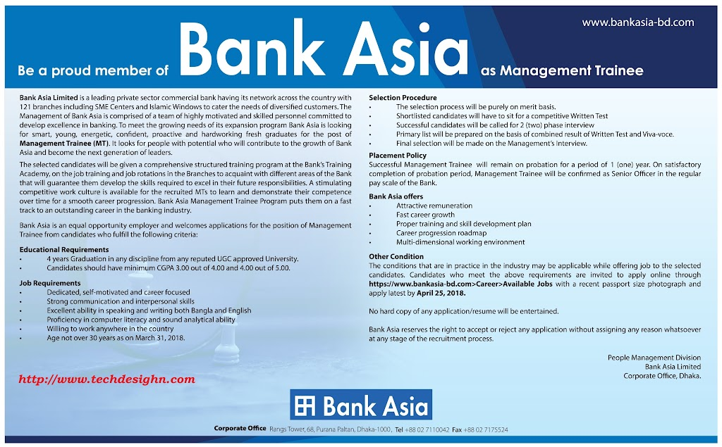 bang asia limited management trainee