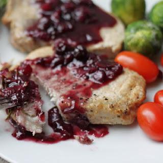 Pressure Cooker Pork Tenderloin with Balsamic Cranberry Sauce