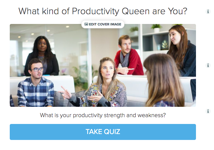 productivity quiz cover