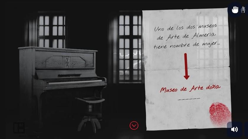 La 'escape room' lanzada desde el departamento de comunicación de la Fundación Ibáñez Cosentino está ambientada en el Museo de Arte de Almería.