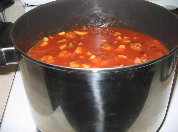 In a large soup kettle, add the bacon  drippings,when melted add the celery...