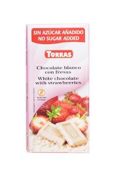 Chocolatina Torras   Chocolate Blanco Con Fresas X75G.