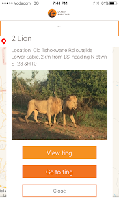 Latest Kruger Sightings- screenshot thumbnail