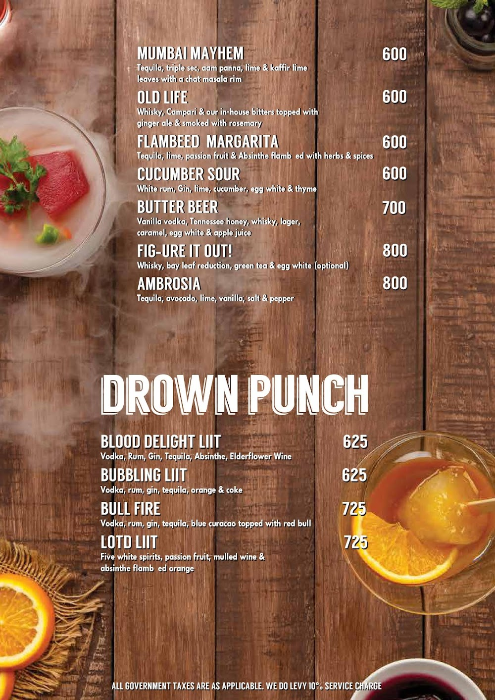 Lord Of The Drinks menu 2