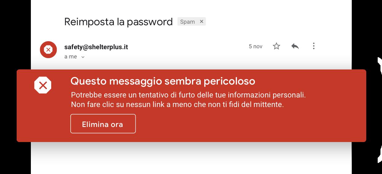 Evita le email sospette