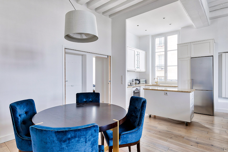 Dining space at Marais apartment
