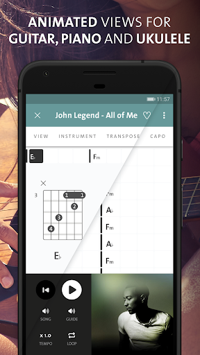 Chordify: Guitar, Ukulele and Piano Chords Apk 2