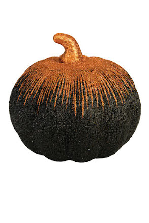 Pumpa svart/orange, glittrig