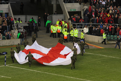 St George Flag Leaves the Pitch