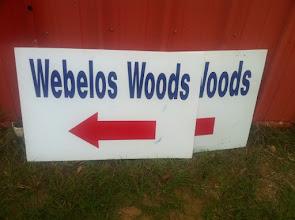 Photo: Webelos Woods signs