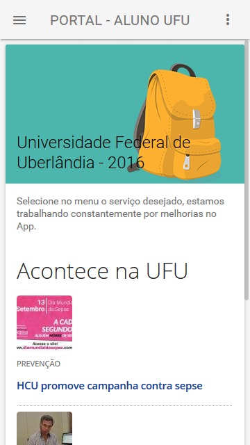 Portal do Aluno UFU- screenshot