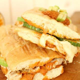 Thanksgiving leftover Turkey, cheese & pesto panini.