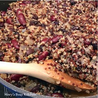 Trio Quinoa & Beans – Gluten free and heart healthy…a delicious way to eat quinoa!.