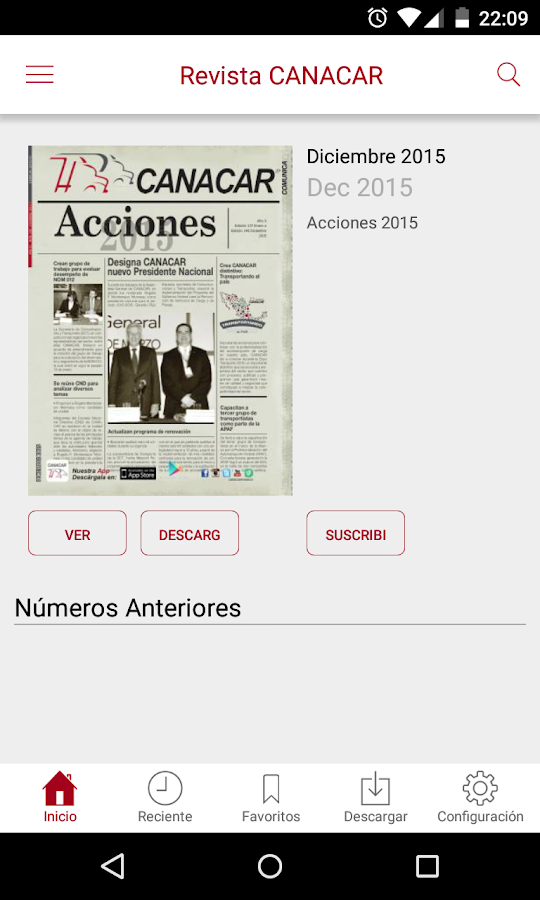Revista CANACAR- screenshot