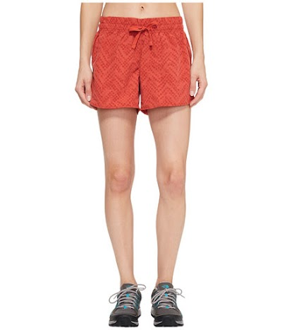 Imbracaminte Femei The North Face Class V Shorts Sunbaked Red Chevron Print