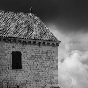 Stairway to history by Jaksa Kuzmicic - Buildings & Architecture Public & Historical ( history, building, theatre, art, croatia, cloud, hvar )