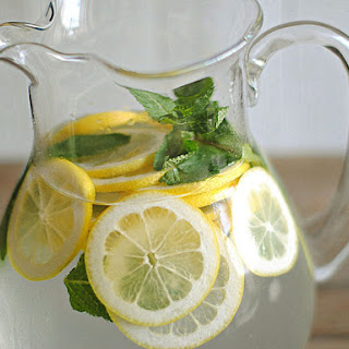 Lemon Water with Fresh Mint.