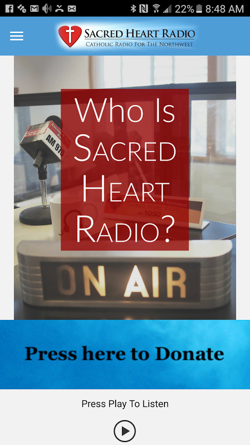Sacred Heart Radio- screenshot