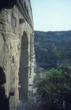 Photo: Side view of the Pont du Gard; note the protusions used during construction