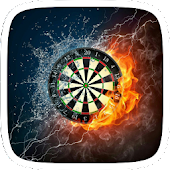 Flaming Dart Board